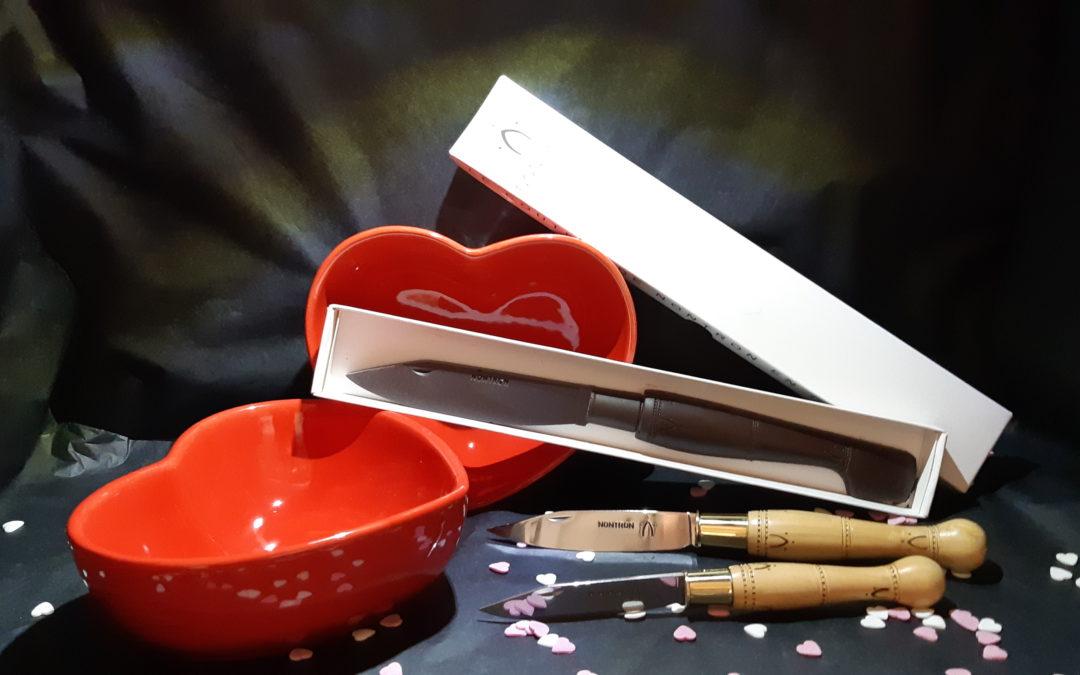 Saint-Valentin : couteaux Nontron à couper et à croquer