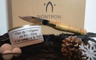 Pâté de Périgueux et couteau Nontron = Noël gourmand