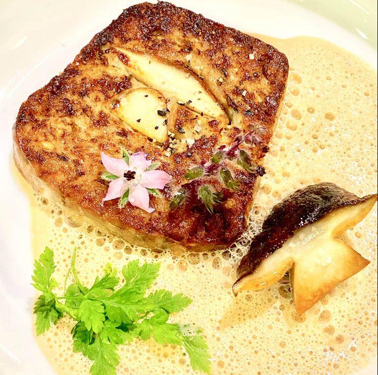 recette au poisson au moulin du roc à Brantôme