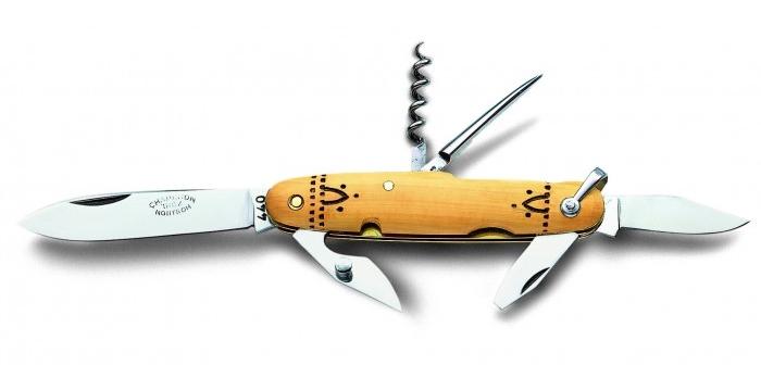 acheter un couteau Nontron pliant avec décapsuleur