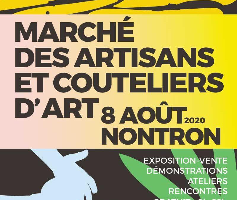 La Coutellerie Nontronnaise au marché des artisans et couteliers d'art de Nontron