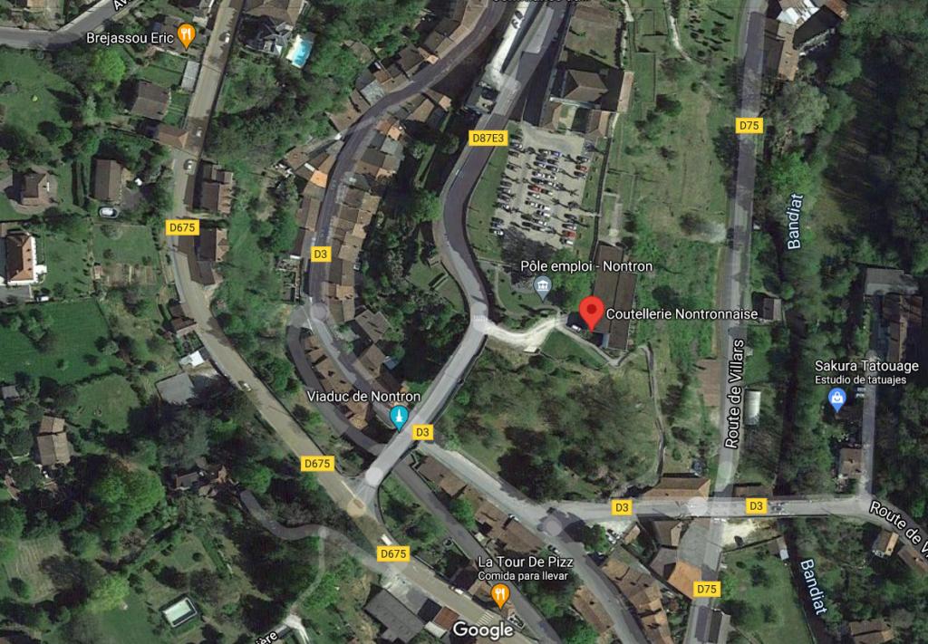 où se trouve l'atelier boutique de la coutellerie Nontronnaise à Nontron?